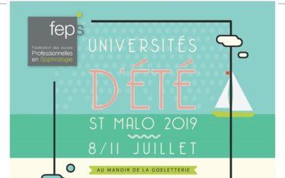 Les Universités d'été 2019 de la FEPS du 8 au 11 juillet à Saint-Malo !