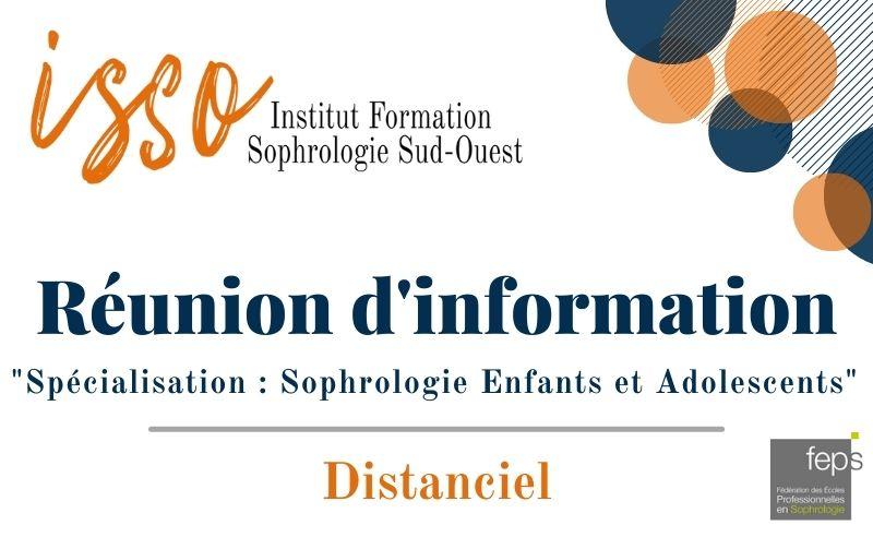 Réunion d'information spécialisation sophrologie enfants et adolescents