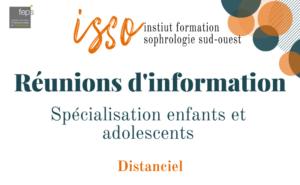 Réunion d'information spécialisation enfants et adolescents ISSO