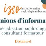 Réunion d'information spécialisation sophrologue consultant formateur ISSO